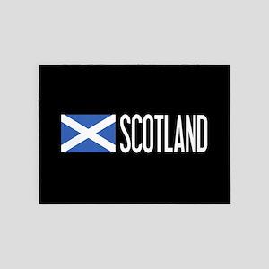 Scotland: Scottish Flag & Scotland 5'x7'Area Rug