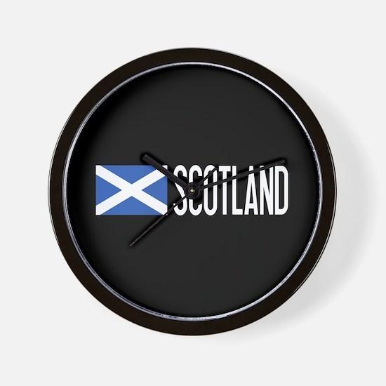 Scotland: Scottish Flag & Scotland Wall Clock