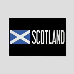 Scotland: Scottish Flag & Scotlan Rectangle Magnet