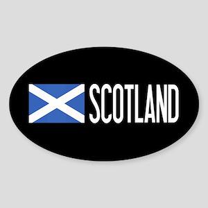 Scotland: Scottish Flag & Scotland Sticker (Oval)