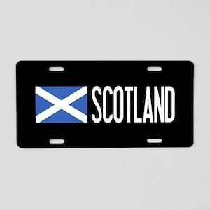 Scotland: Scottish Flag & S Aluminum License Plate