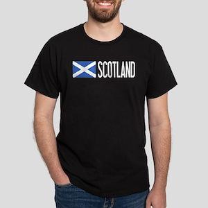 Scotland: Scottish Flag & Scotland Dark T-Shirt