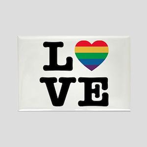 Love Heart Pride Magnets