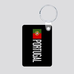 Portugal: Portuguese Flag Aluminum Photo Keychain