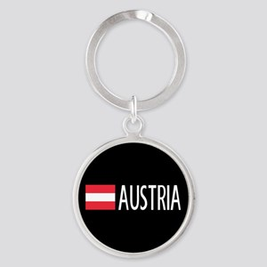 Austria: Austrian Flag & Austria Round Keychain