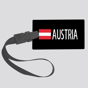Austria: Austrian Flag & Austria Large Luggage Tag