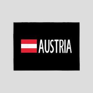 Austria: Austrian Flag & Austria 5'x7'Area Rug