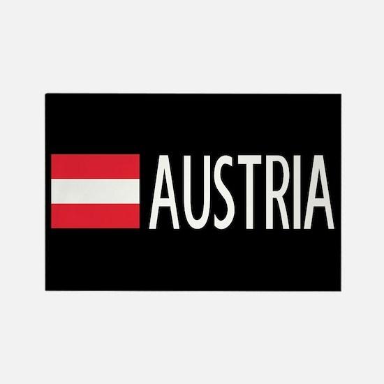 Austria: Austrian Flag & Austria Rectangle Magnet