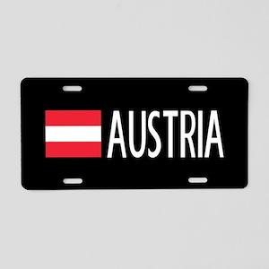 Austria: Austrian Flag & Au Aluminum License Plate