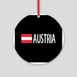 Austria: Austrian Flag & Austria Round Ornament