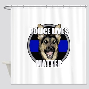 Police lives matter Shower Curtain