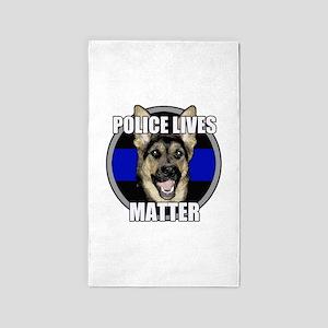 Police lives matter Area Rug