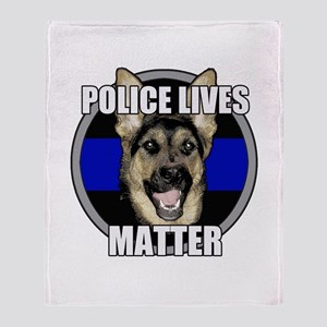 Police lives matter Throw Blanket