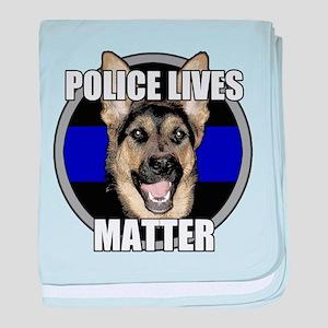 Police lives matter baby blanket