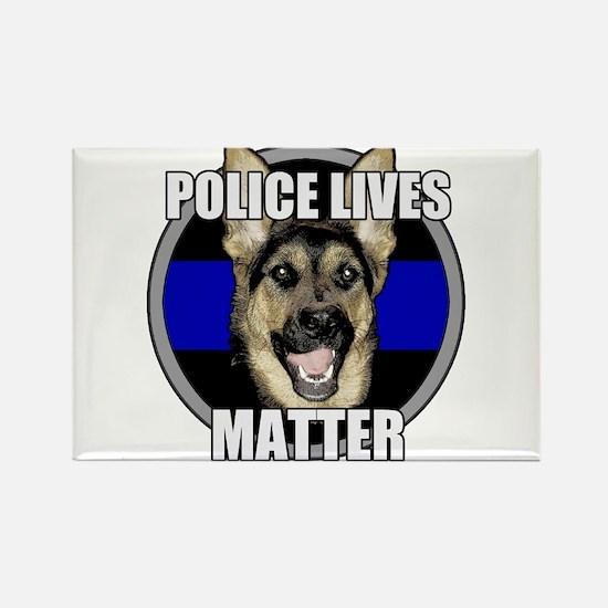 Police lives matter Rectangle Magnet (10 pack)