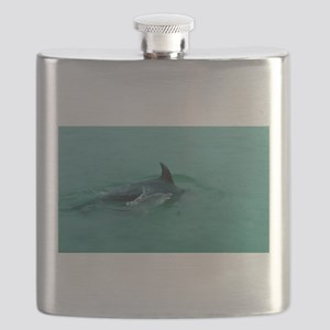 Natural Mother Dolphin and Baby Flask