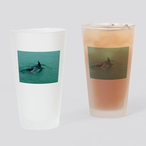 Natural Mother Dolphin and Baby Drinking Glass