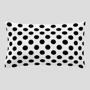 Black Polka Dot Print Pattern Pillow Case