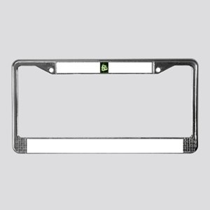 Yellow Beauty in the Rain License Plate Frame