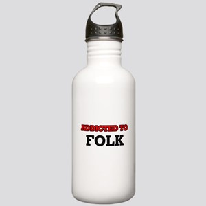 Addicted to Folk Stainless Water Bottle 1.0L