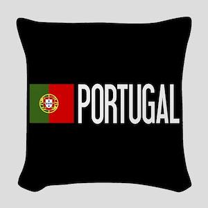 Portugal: Portuguese Flag & Po Woven Throw Pillow