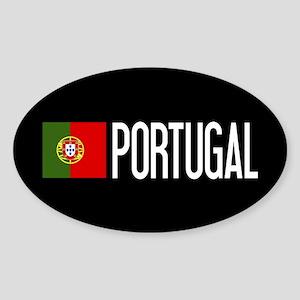 Portugal: Portuguese Flag & Portuga Sticker (Oval)