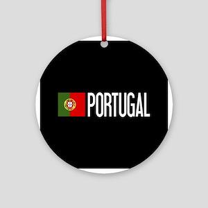 Portugal: Portuguese Flag & Portuga Round Ornament