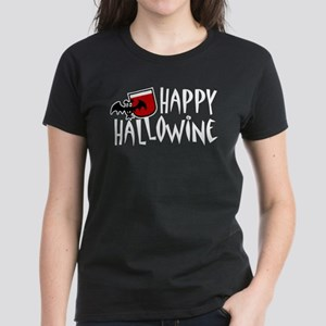 Happy Hallowine Women's Dark T-Shirt