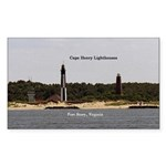 Cape Henry Lighthouses Sticker