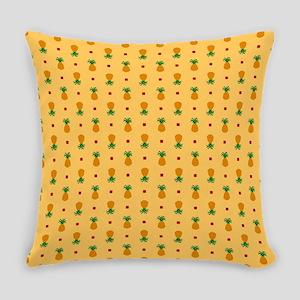 Pineapple Pattern | Orange Backgro Everyday Pillow
