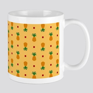 Pineapple Pattern | Orange Background Mugs