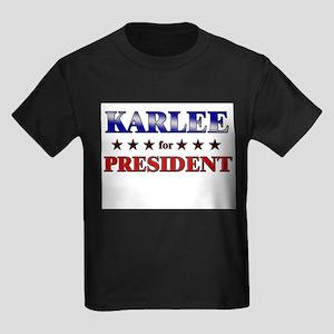 KARLEE for president Kids Dark T-Shirt