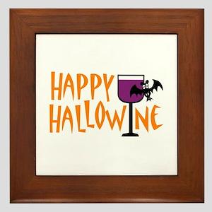 Happy Hallowine Framed Tile