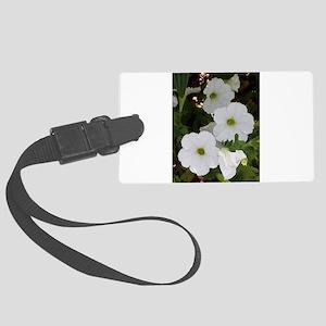 Wonderful White Flowers Large Luggage Tag