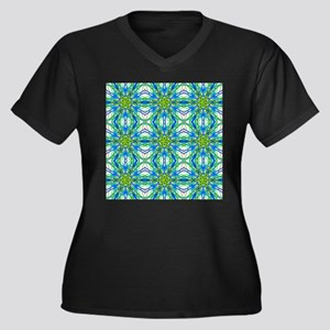 Mandala On White With Yellow And Plus Size T-Shirt