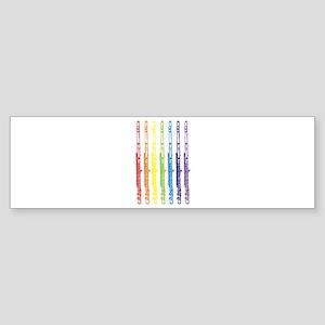 Flutes 7 Rainbow Bumper Sticker