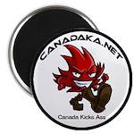 Canada Kicks Ass Laef Magnet