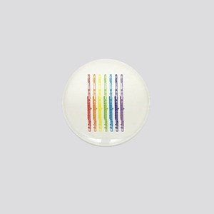 Flutes 7 Rainbow Mini Button