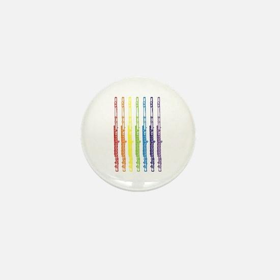 Flutes 7 Rainbow Mini Button
