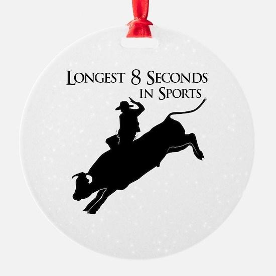 Longest 8 Seconds Ornament