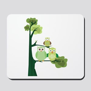 Green Owls Mousepad