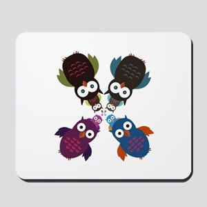 Owl Crowd Mousepad