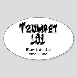 Trumpet 101 Oval Sticker