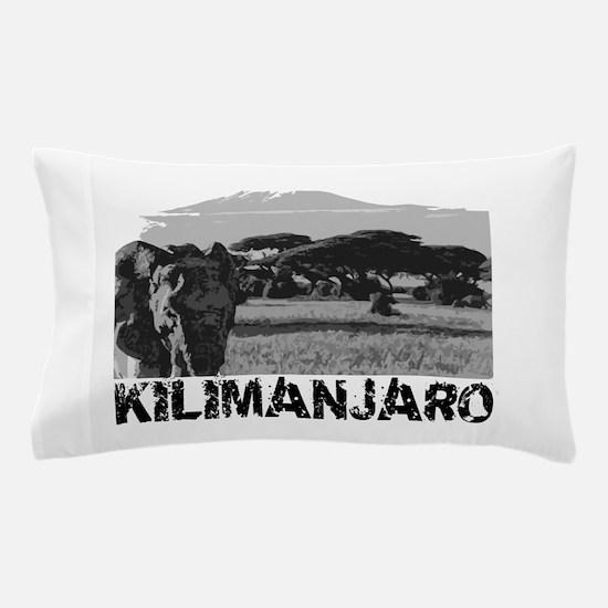 Kilimanjaro Elephant (black) Pillow Case