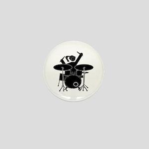 Drummer Girl Mini Button