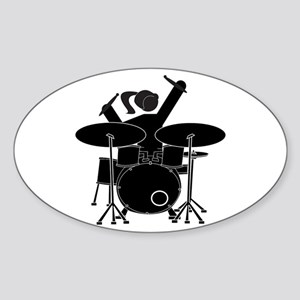Drummer Girl Sticker