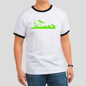 Dinosaur nativity Christmas T-Shirt
