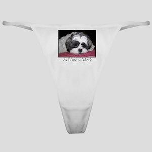 Cute Shih Tzu Dog Classic Thong