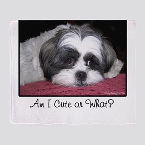 Cute Shih Tzu Dog Throw Blanket