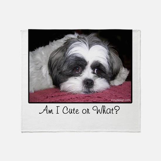 Cute Shih Tzu Dog Throw Blanket